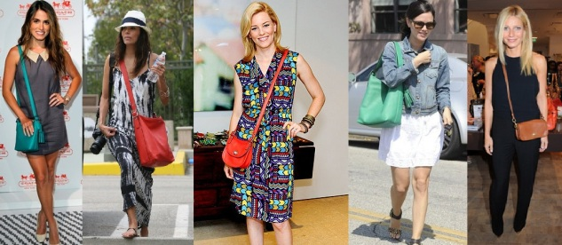 celebrities carrying coach bags, coach purses, coach, coach legacy collection