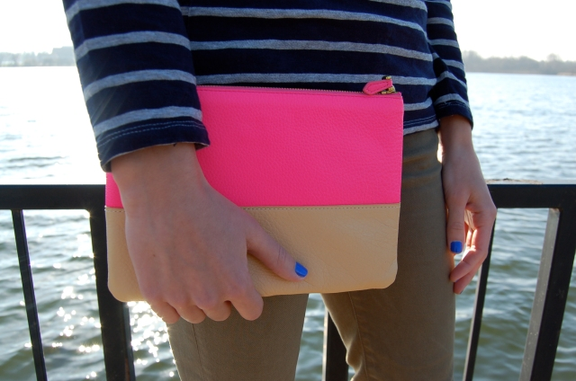 j. crew clutch, leather clutch