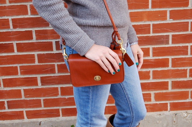 j. crew sweater, coach bag, coach legacy collection, fall fashion