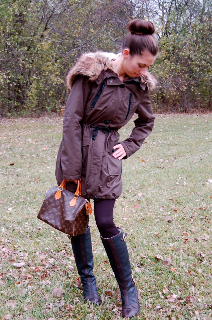coats, jackets, fall fashion, vince camuto boots, louis vuitton bag