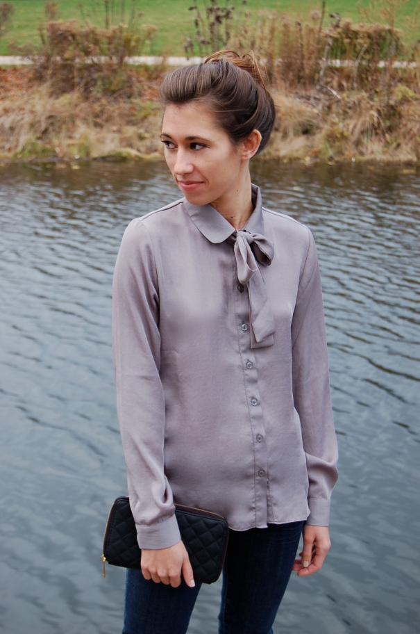 ASOS blouse, blouse with a bow, fall outfit