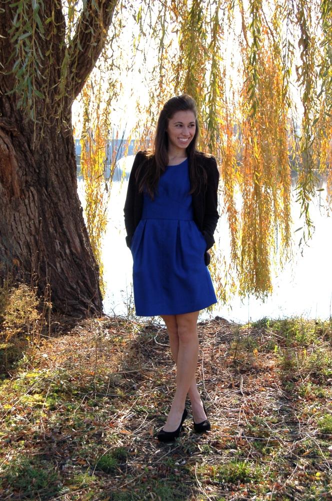 blue dress, J. Crew blue dress, J. Crew