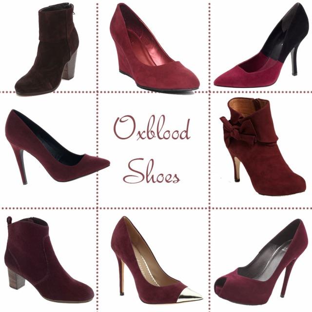 oxblood, oxblood trend, oxblood heels, oxblood boots, oxblood booties