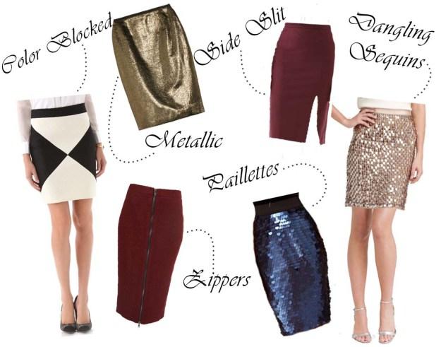 pencil skirts, sequin pencil skirt, metallic pencil skirt, holiday pencil skirts, fancy pencil skirts