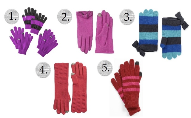 smartphone gloves, cute touchscreen gloves, kate spade gloves, bow gloves, cute gloves