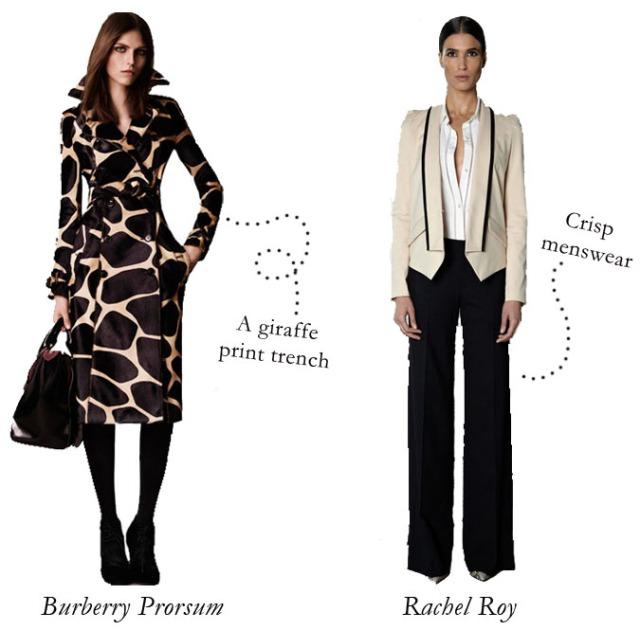 burberry prorsum pre-fall 2013, burberry giraffe print coat, rachel roy pre-fall 2013