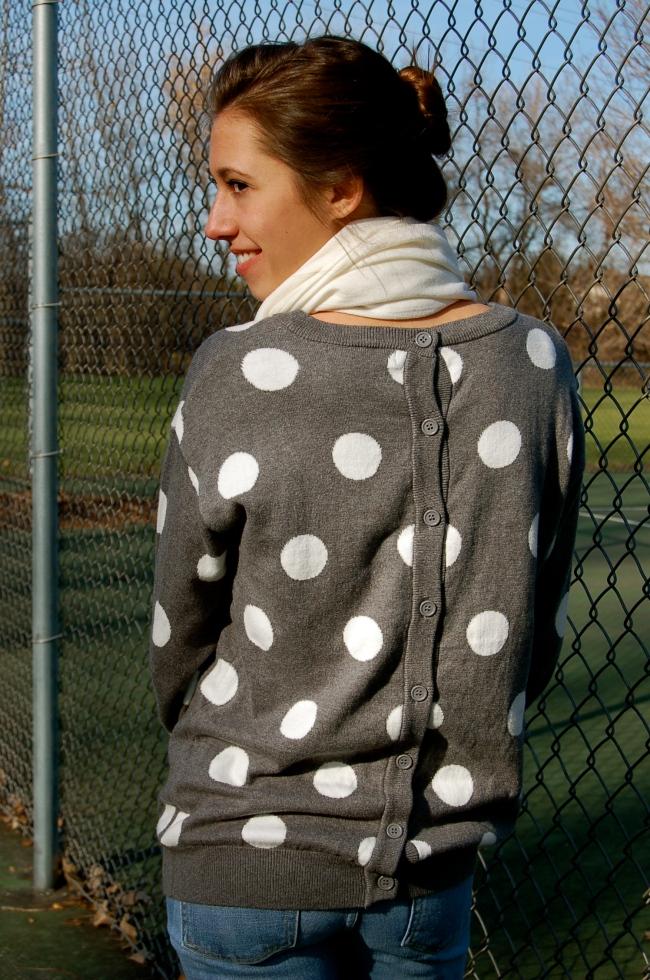 polka dot sweater, polka dot sweatshirt, forever21 polka dot sweater