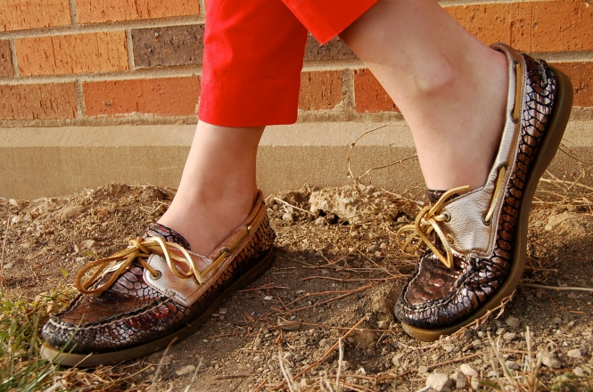 gold sperry top-siders, fancy sperrys, gold boat shoes, shiny sperry top-siders