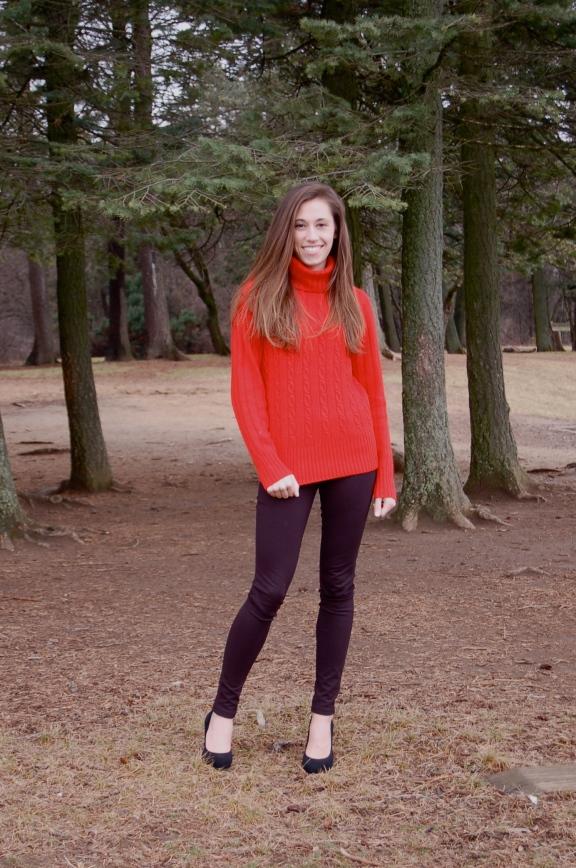 j. crew red sweater
