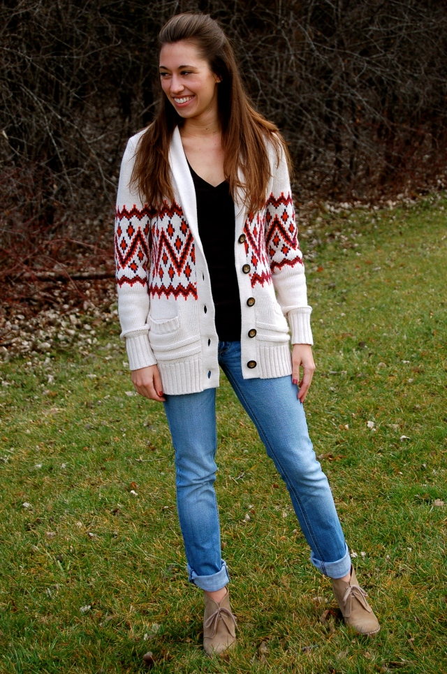 sweater and booties, H&M sweater, warm winter sweater, thick winter sweater