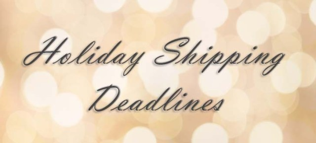 holiday shipping, holiday shipping deadlines, last day for free christmas shipping
