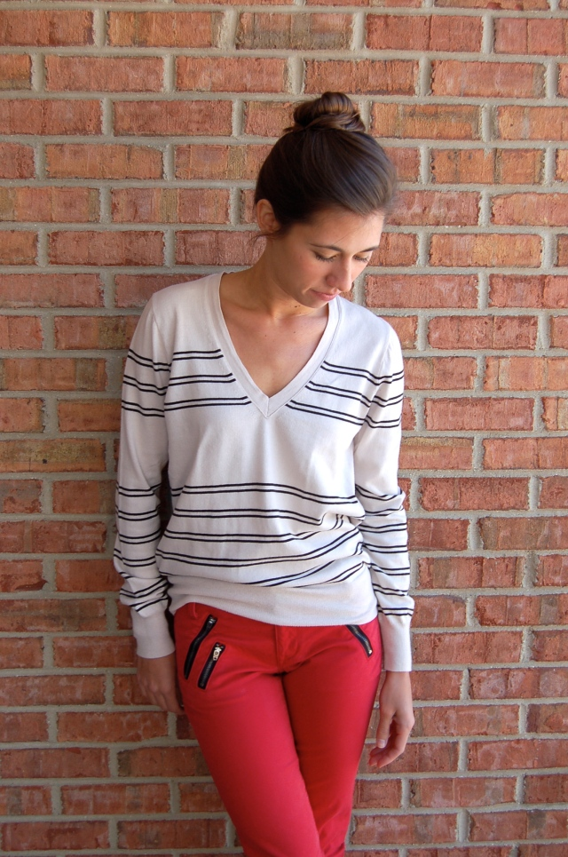 gap pants, gap red pants, gap skinny pants, zipper pocket pants