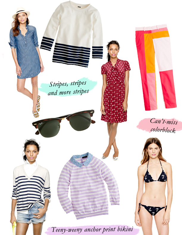 j. crew spring 2013 collection, j. crew spring clothes. j. crew sperrys, j. crew liberty london
