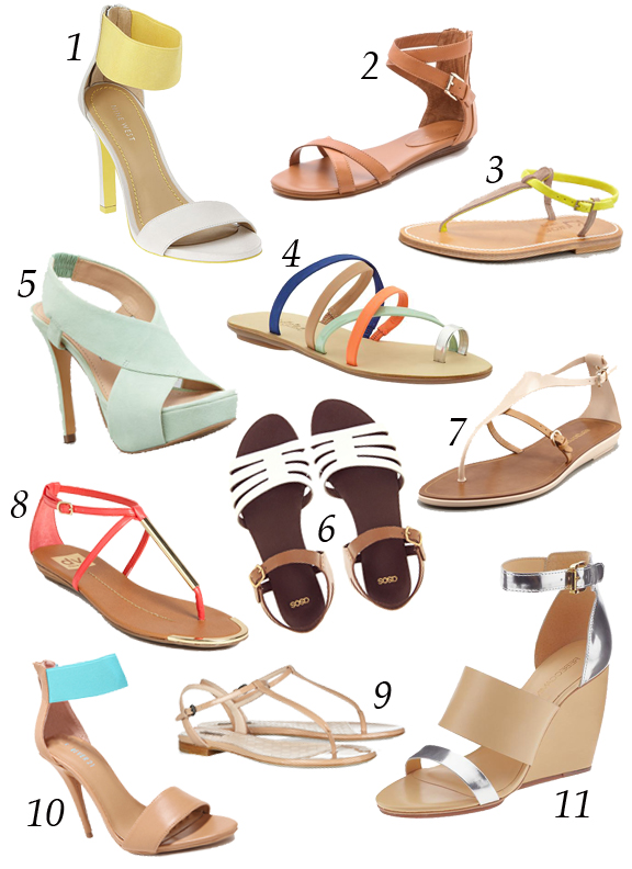 spring sandals, spring 2013 sandals, summer sandals, simple sandals, designer sandals