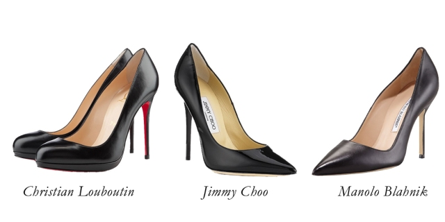 christian louboutin black heels, jimmy choo black pumps, manolo blahnik black pumps, classic black pumps, black stilettos