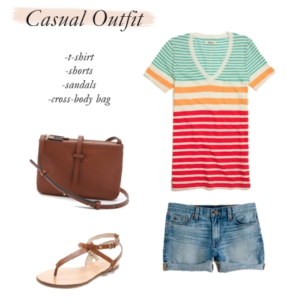 casual outfit, how to pack lightly, spring break packing