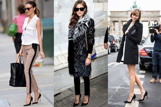 miranda kerr in black pumps, olivia palermo in black pumps, karlie kloss in black pumps, classic black stilettos, simple black pumps, black heels