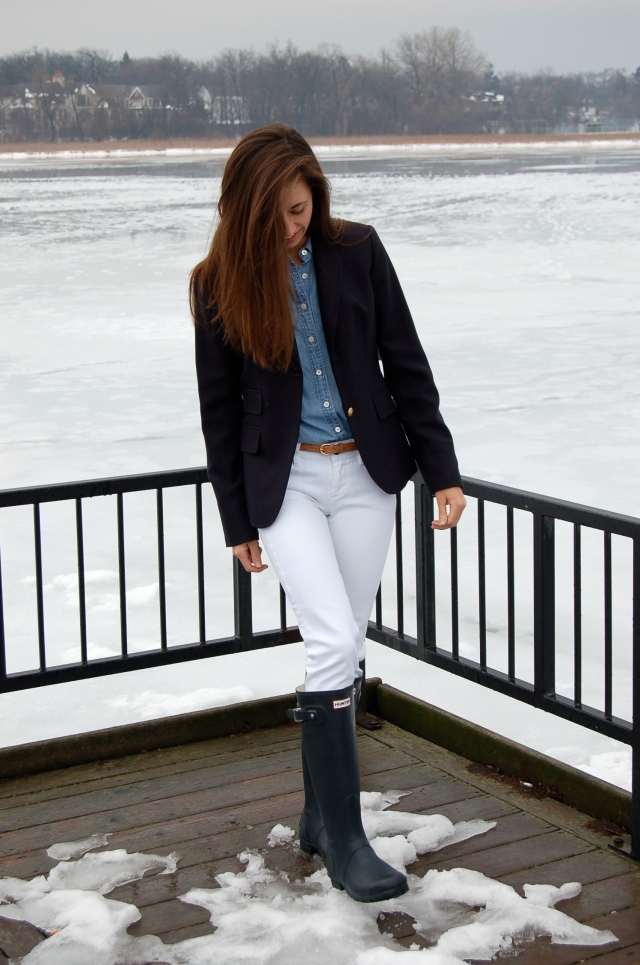 simple fashion blog, preppy outfit, classic j. crew blazer outfit