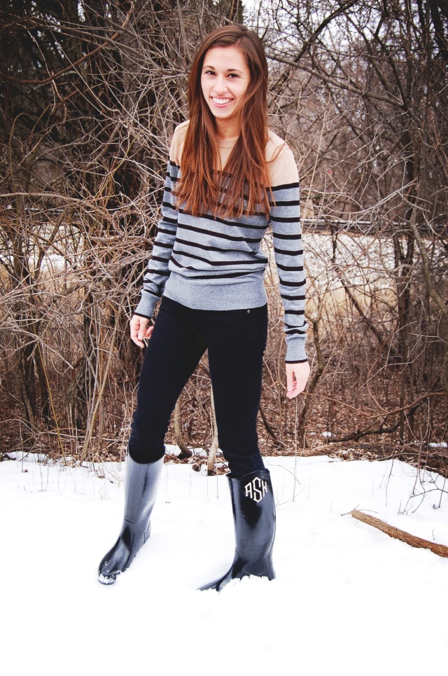 zoubaby boots, j. crew black toothpick jeans, forever 21 stripe sweater, simple winter outfit, simple fashion blog