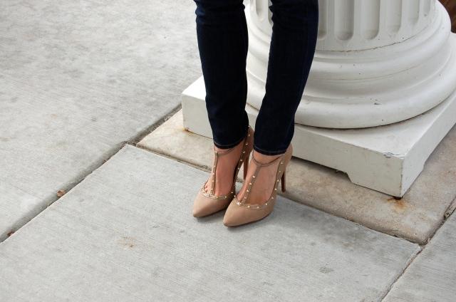 heels with studs, heels with spikes, schutz spike heels