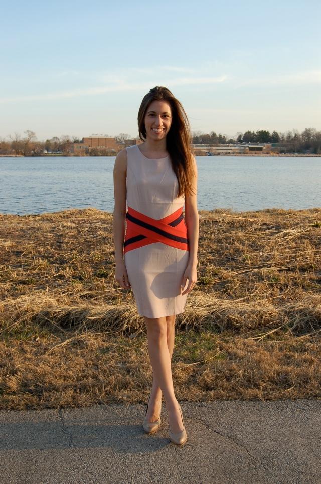 stripe sheath dress, simple sheath dress