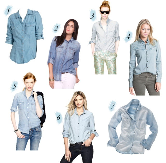 button up chambray shirt, summer chambray shirt, what is chambray, difference between denim and chambray