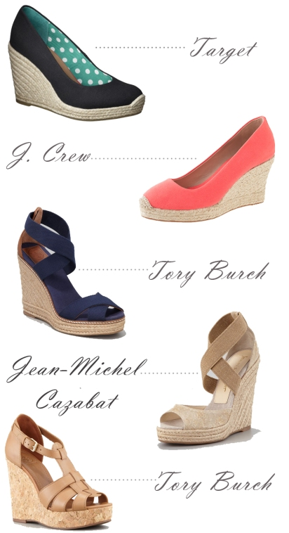 simple wedges, tory burch wedges, target espadrille wedges, j. crew espadrille wedges, simple espadrille wedges