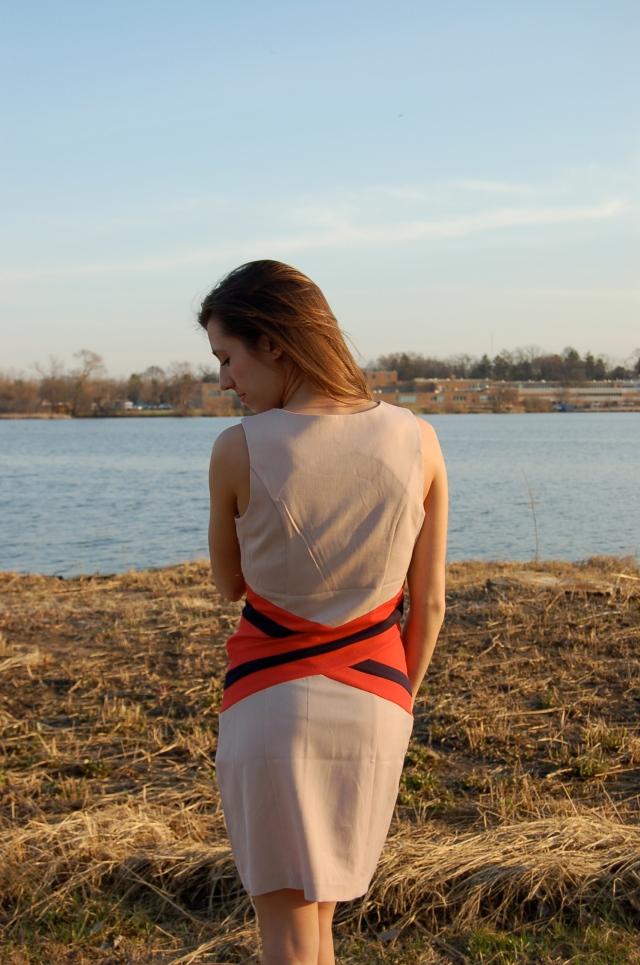 stripe sheath dress, c. luce sheath dress