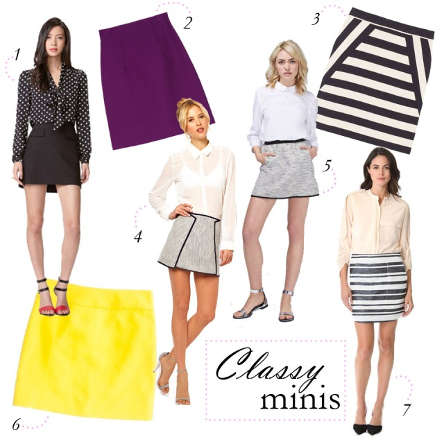 classy skirts, simple skirts, mini skirts for work, classic mini skirt