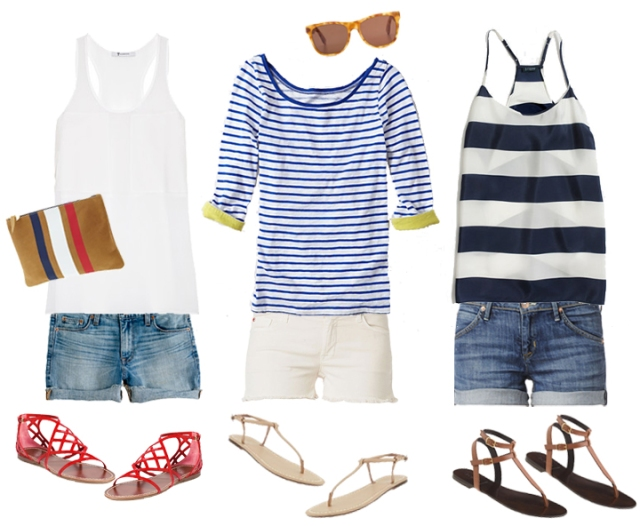 simple spring outfit, shorts and striped shirt, stripe shirt outfits, striped spring shirts, dneim short outfits