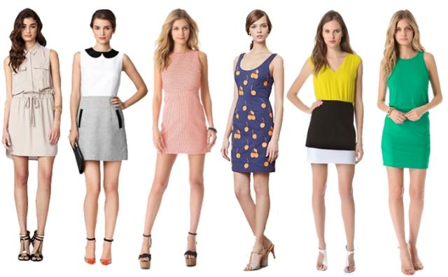 simple spring dresses, effortless spring dresses, spring sheath dresses, one step dressing