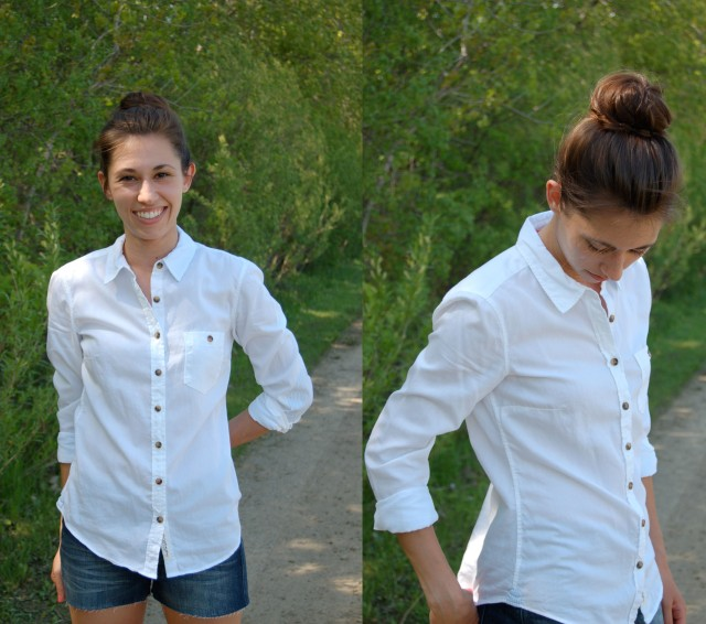 white button up summer outfit, classic summer outfit, white button up for summer