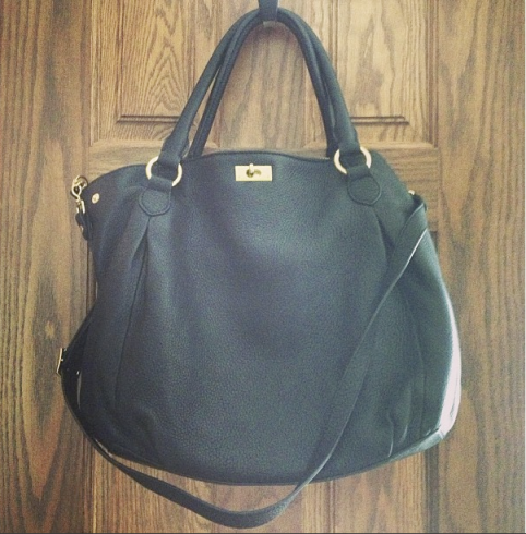 j.crew leather bag, brompton hobo