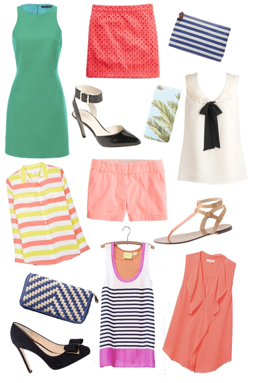 summer clothes, summer shopping, summer shoes, summer accessories