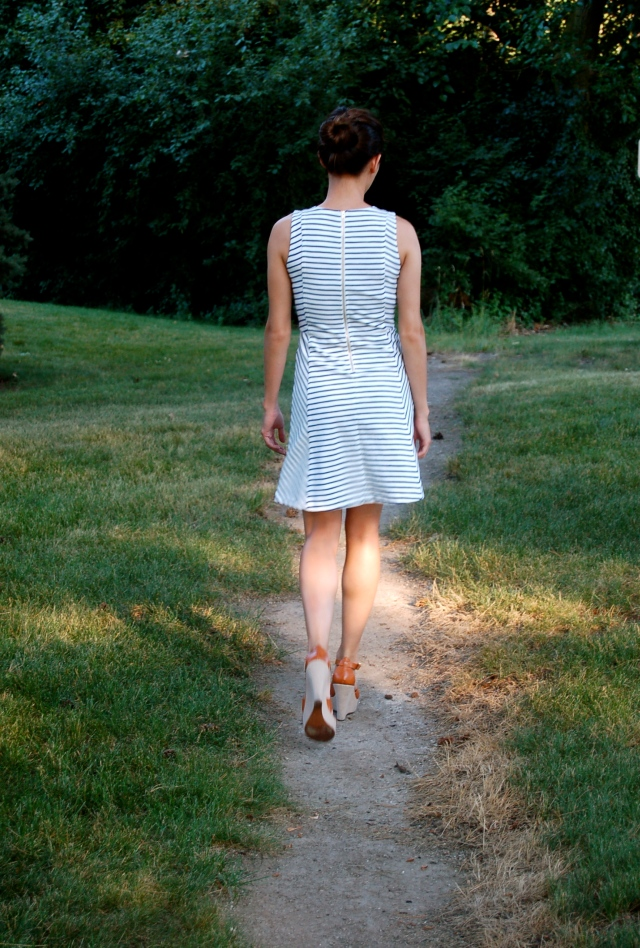 j.crew stripe dress, classic striped dress, simple striped dress