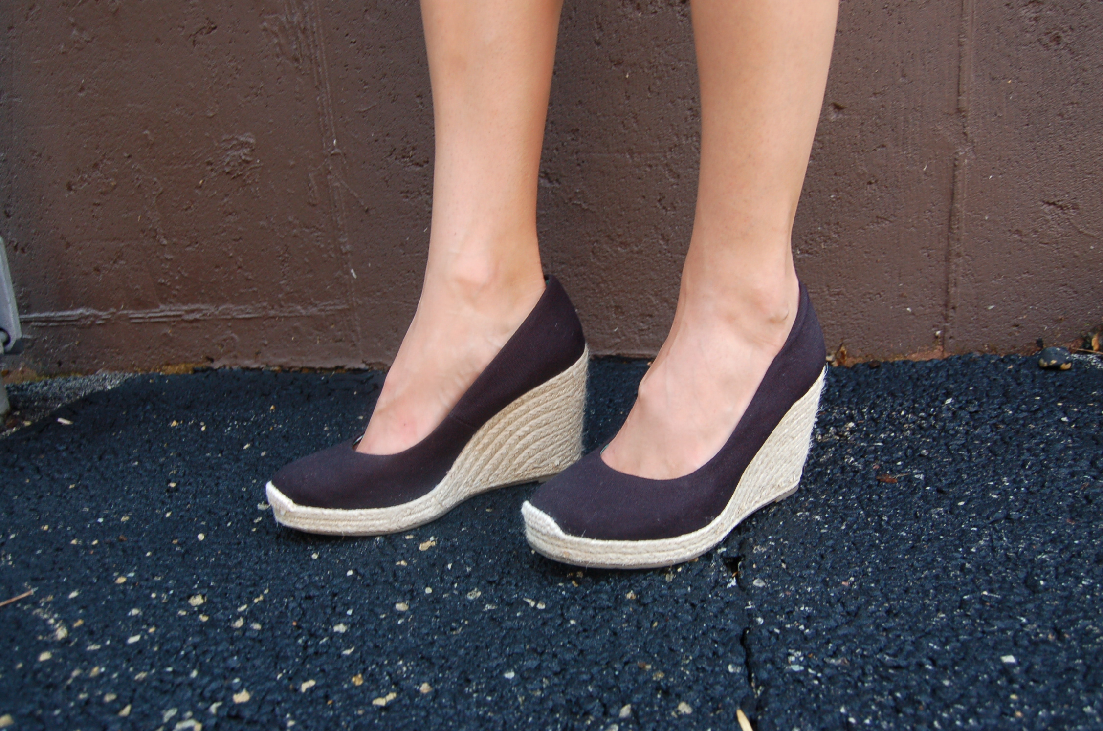 6c110007fc9 Factory Canvas Espadrille Wedges ~ Ladies Wedge Sandals