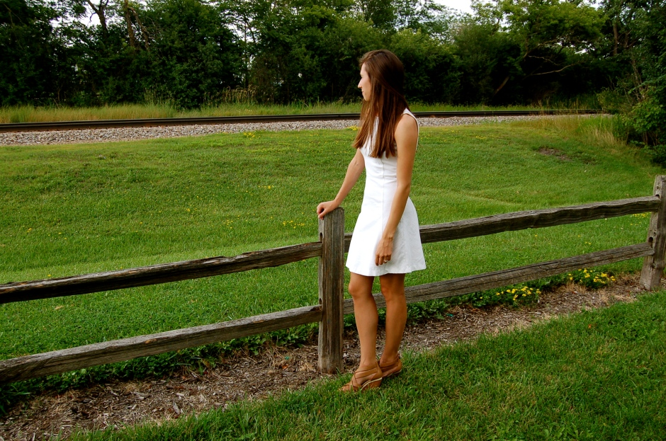 j.crew white fit and flare dress, simple white dress j.crew