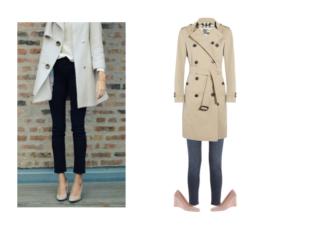 simple trench coat, burberry trench coat outfit, trench coat and jeans, trench and jeans outfit, casual trench coat outfit