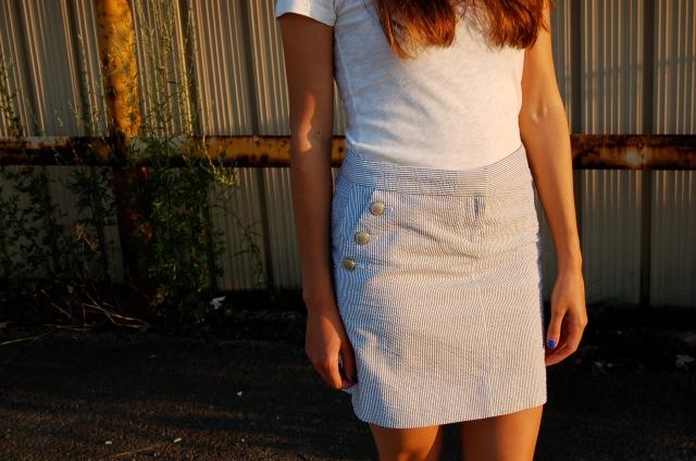 j.crew seersucker skirt