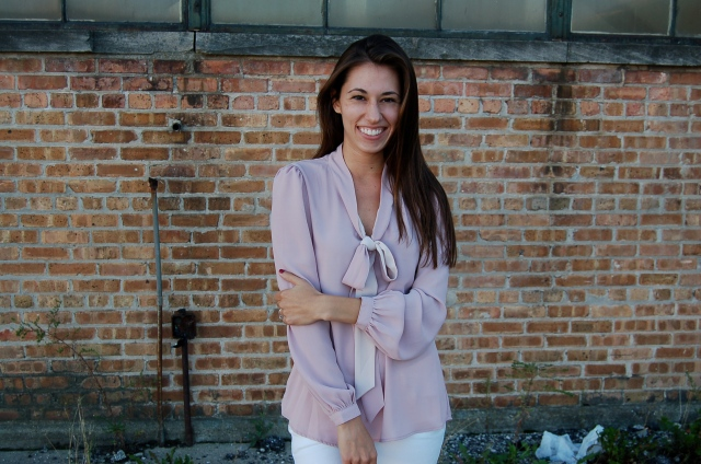 tinley road blouse, simple bow blouse, simple pink blouse, simple work outfit, simple outfit