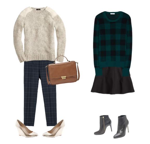 plaid sweater, plaid pants, simple winter outfits, christmas outfits, jcrew winter sweater