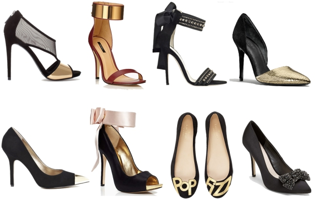 holiday shoes, shoes for holiday parties, pop fizz kate spade flats, heels with bows, party shoes