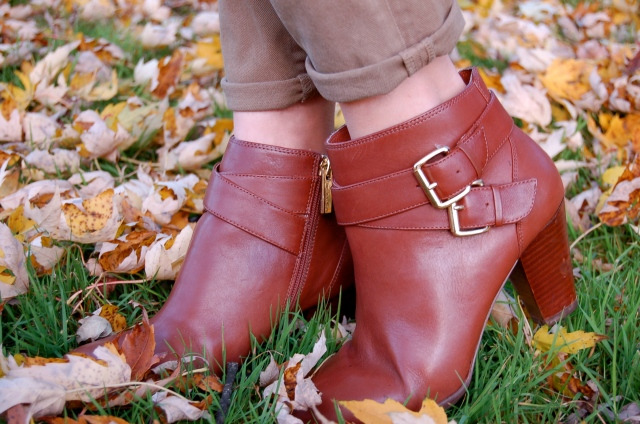 brown leather booties, simple booties, louise et cie booties