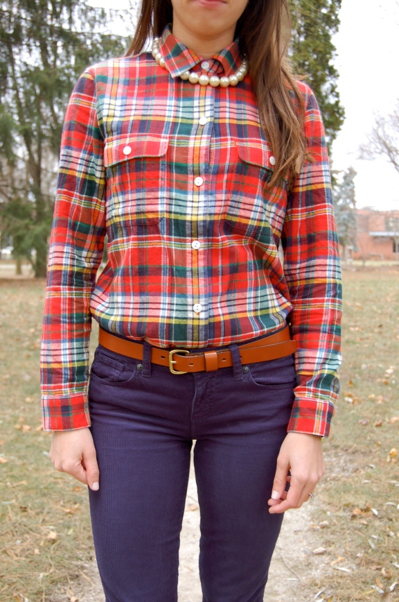 madewell plaid shirt, madewell black friday, jcrew corduroys, jcrew black friday