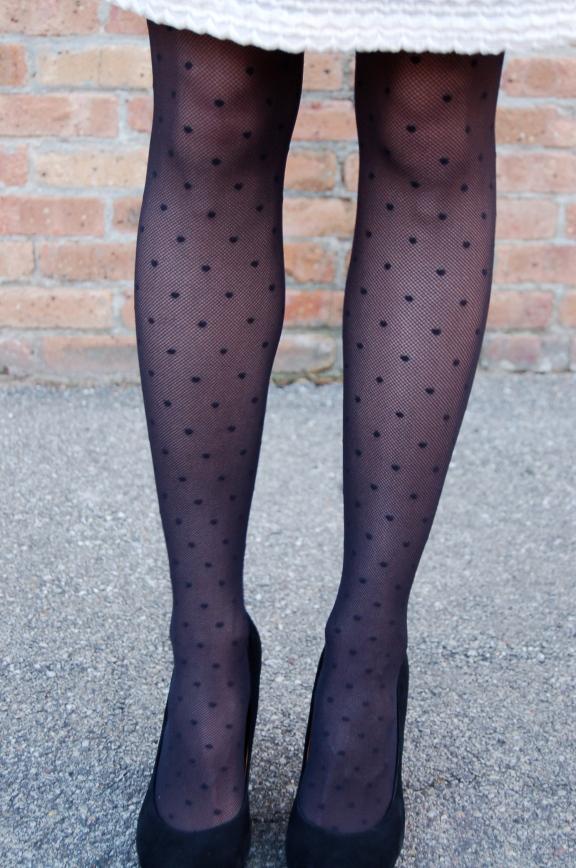 kate spade tights, polka dot tights, dot tights, unique tights